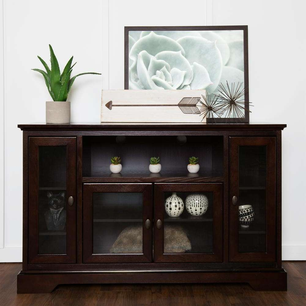 Family 303398158 Espresso Entertainment Center Hd52C32Es – The With Highboy Tv Stands (View 12 of 15)