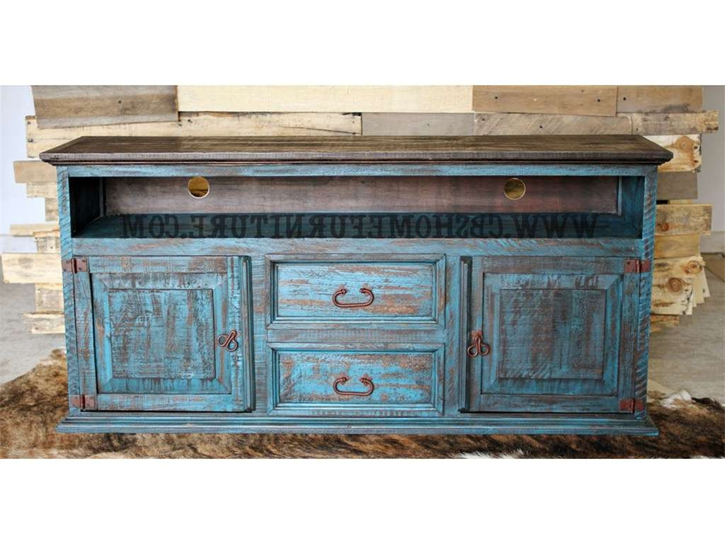 Fancy Distressed Wood Tv Stand 31 For Interior Decor Home With Regarding Blue Tv Stands (View 6 of 15)