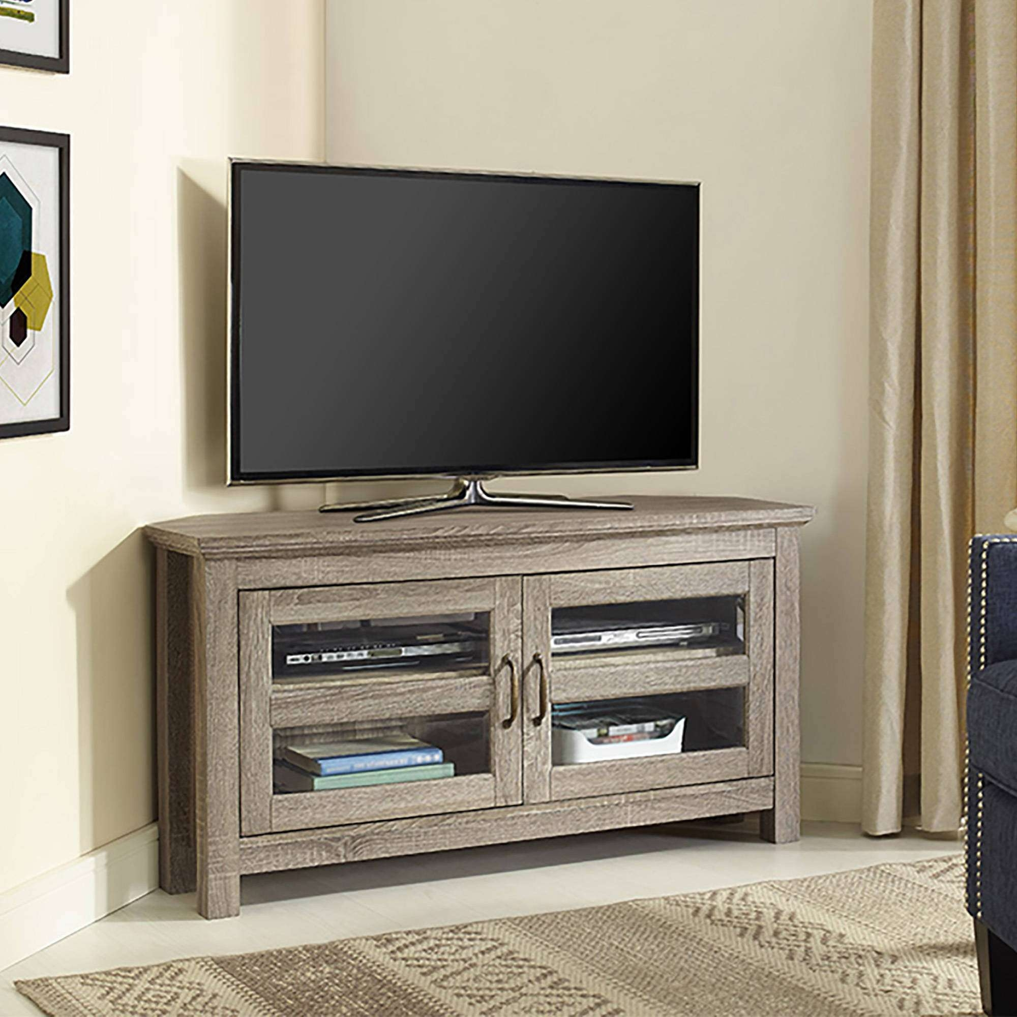 Fancy Walker Edison Corner Tv Stand 64 On Home Designing Intended For Corner Tv Stands (View 7 of 15)