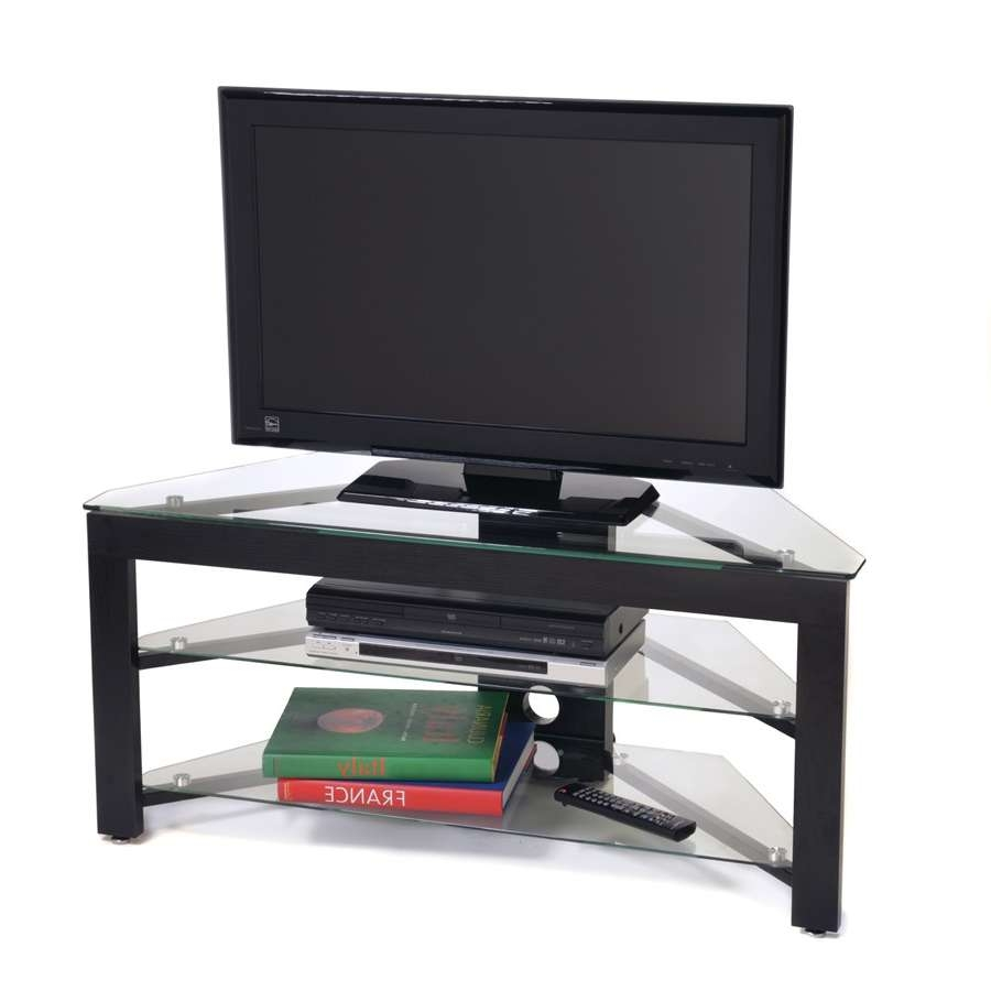 Fantastic Inch Flat Screen Low Profile Tv Stand Black Glass Along With Wood And Glass Tv Stands For Flat Screens (View 4 of 20)