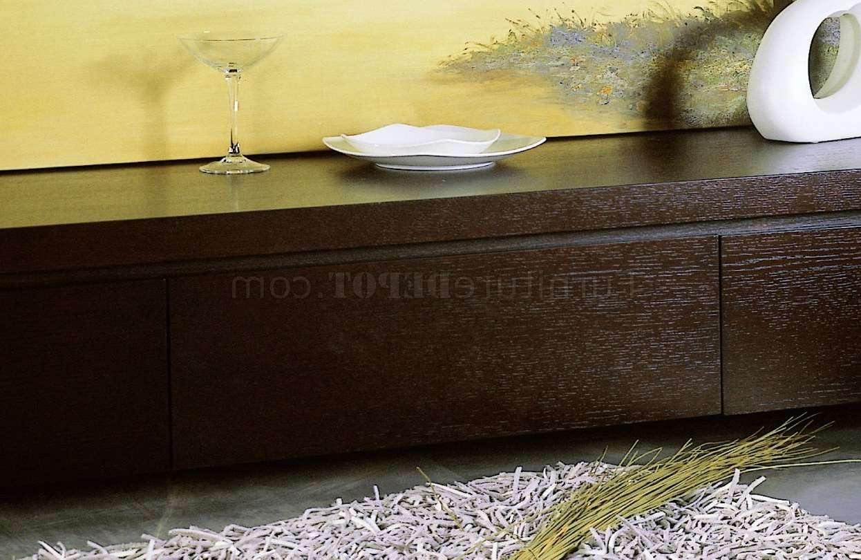 Finish Low Base Modern Tv Stand W/three Drawers Intended For Wenge Tv Cabinets (View 14 of 20)