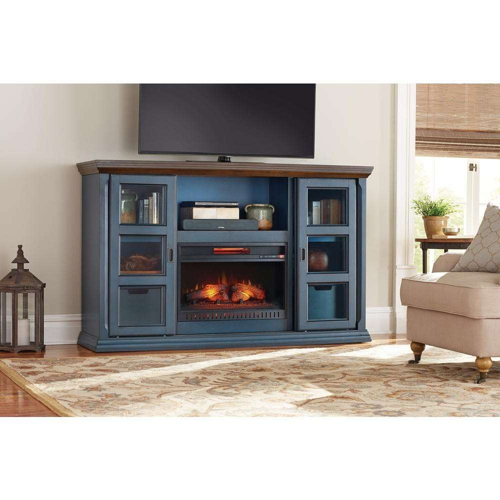 Fireplace Tv Stands – Electric Fireplaces – The Home Depot With 50 Inch Fireplace Tv Stands (View 6 of 15)