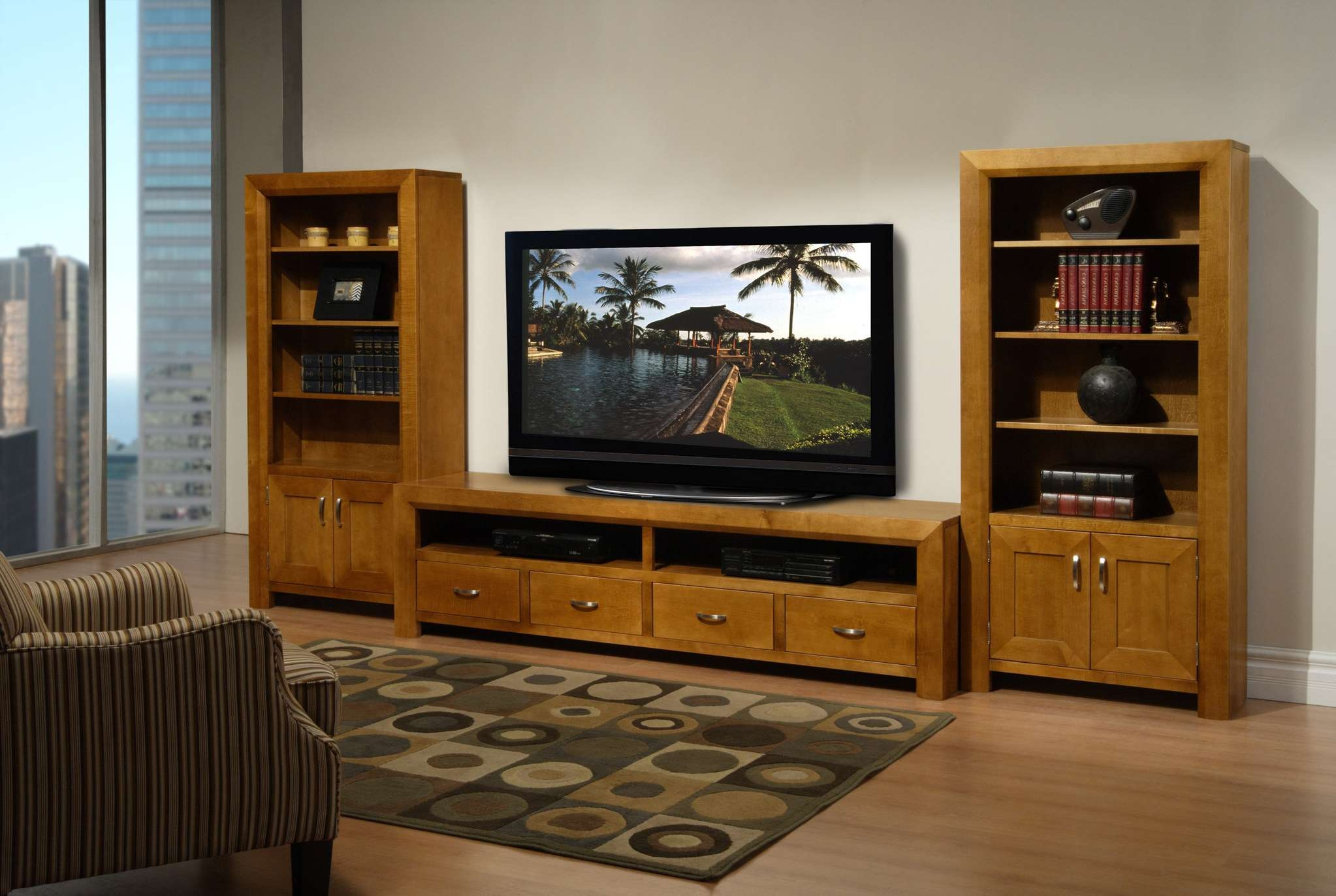 Flat Screen Tv Stands And Costco Console White Media Furniture Intended For Wooden Tv Stands For 55 Inch Flat Screen (View 3 of 15)