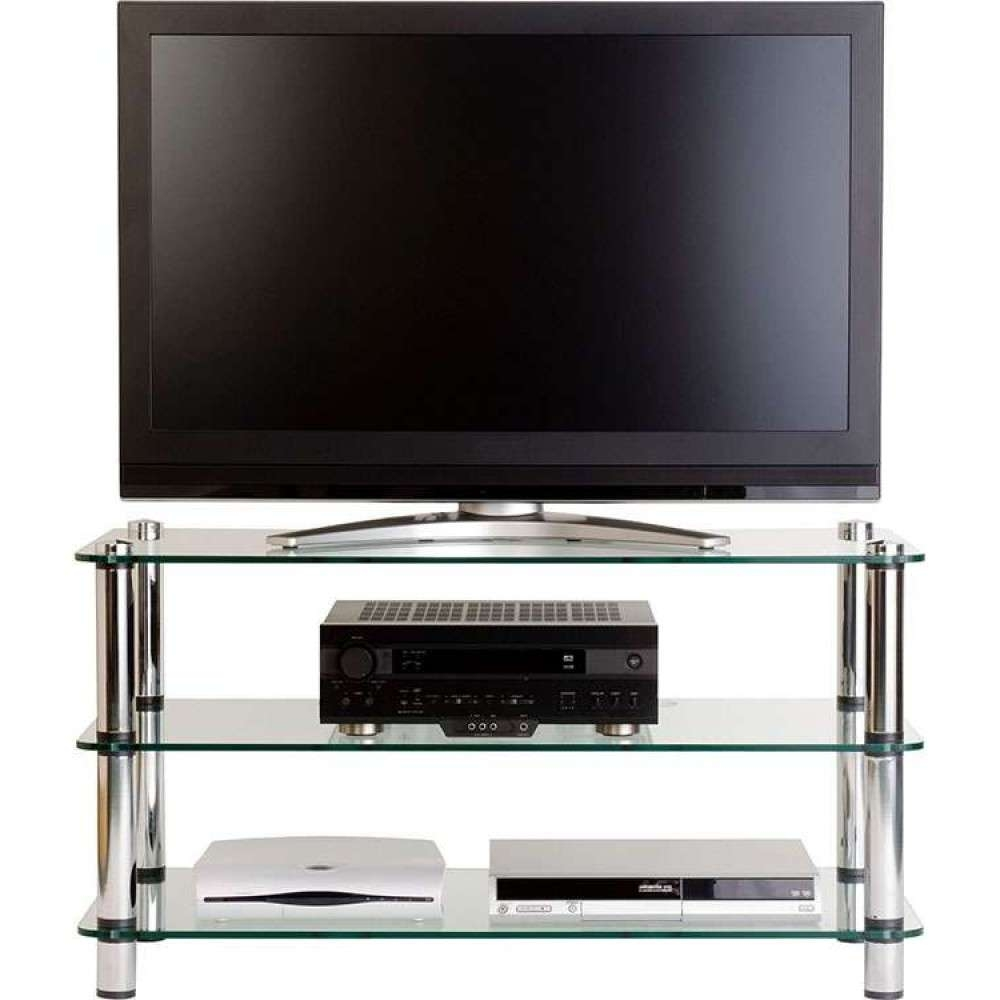 Flatscreen Tv Stand Glass Shelves Storage Display Unit Intended For Plasma Tv Stands (View 4 of 15)