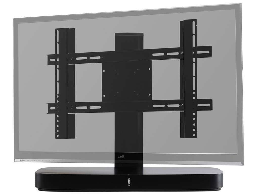 Flexson Adjustable Tv Stand For Sonos Playbase Black | Wifimedia Throughout Sonos Tv Stands (View 6 of 15)