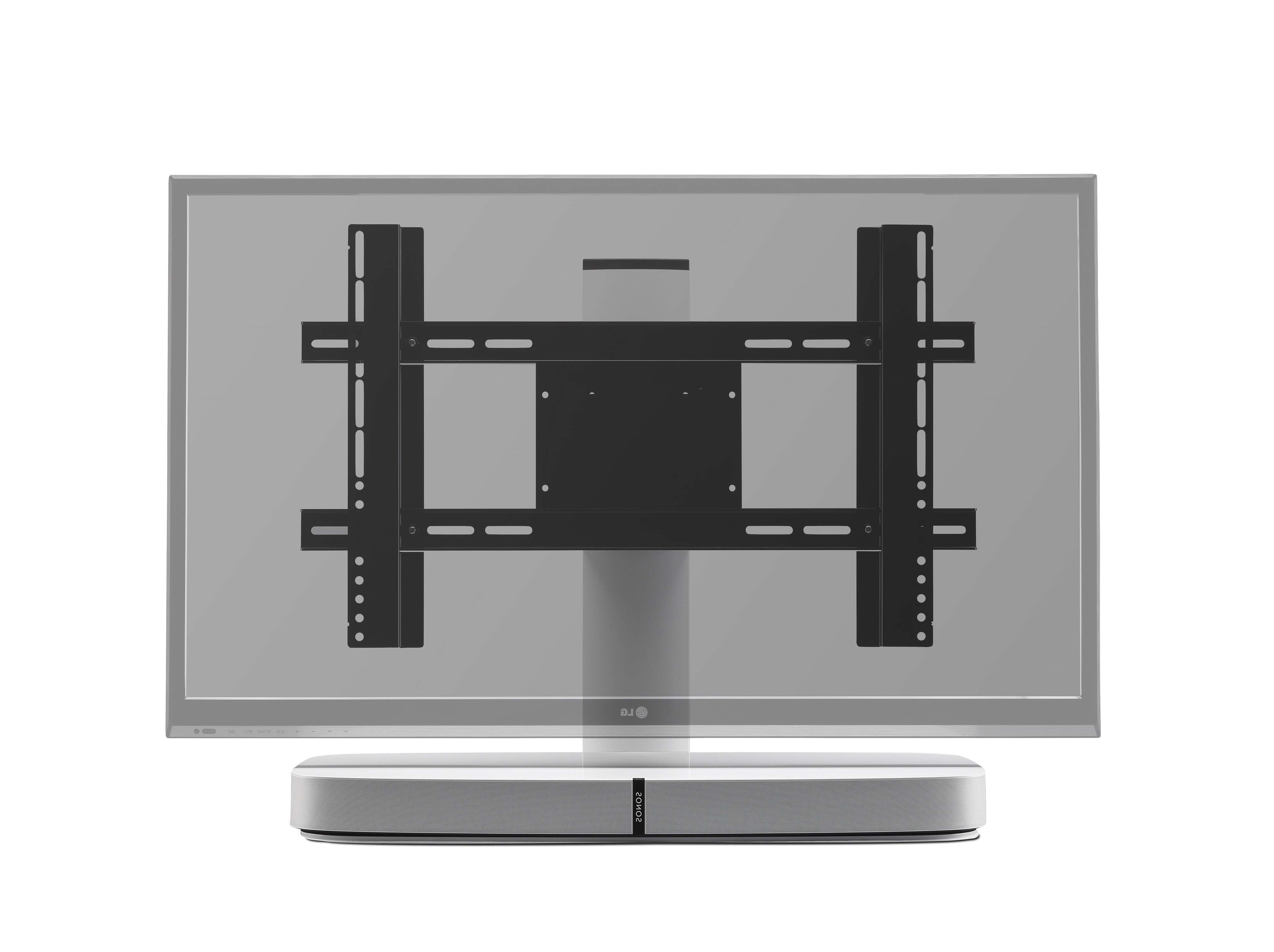Flexson Adjustable Tv Stand For Sonos Playbase – White – Tv Regarding Sonos Tv Stands (View 11 of 15)