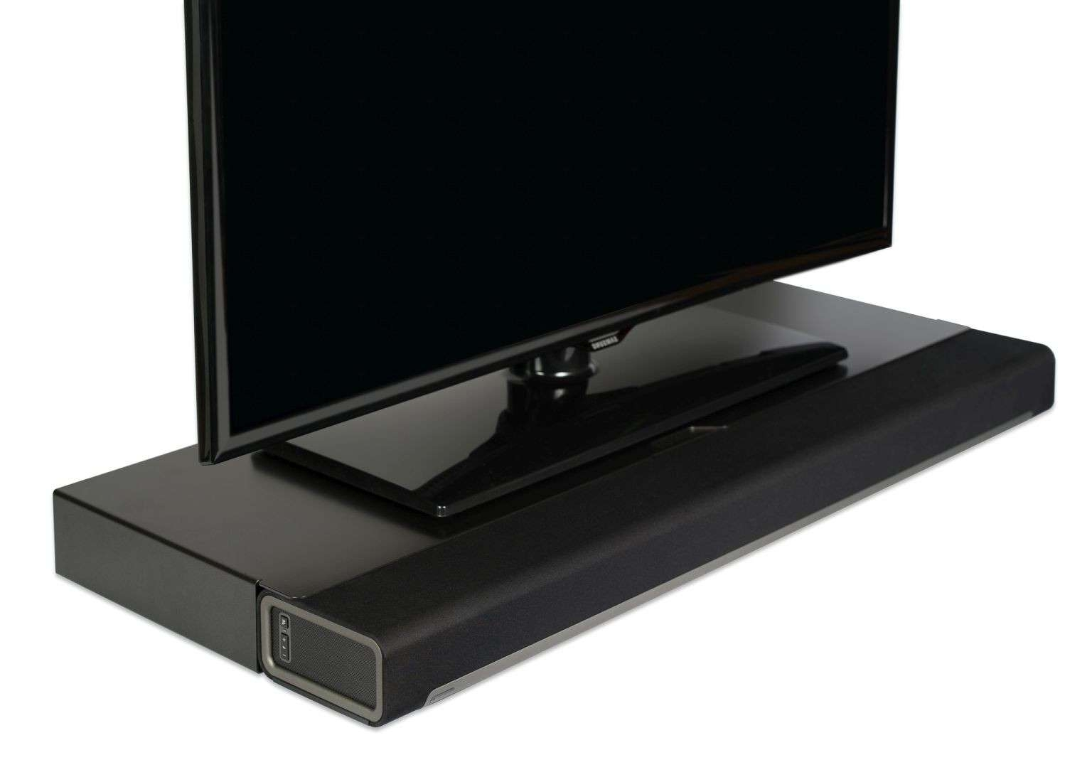 Flexson Playbar Tv Stand – Black Throughout Sonos Tv Stands (View 7 of 15)