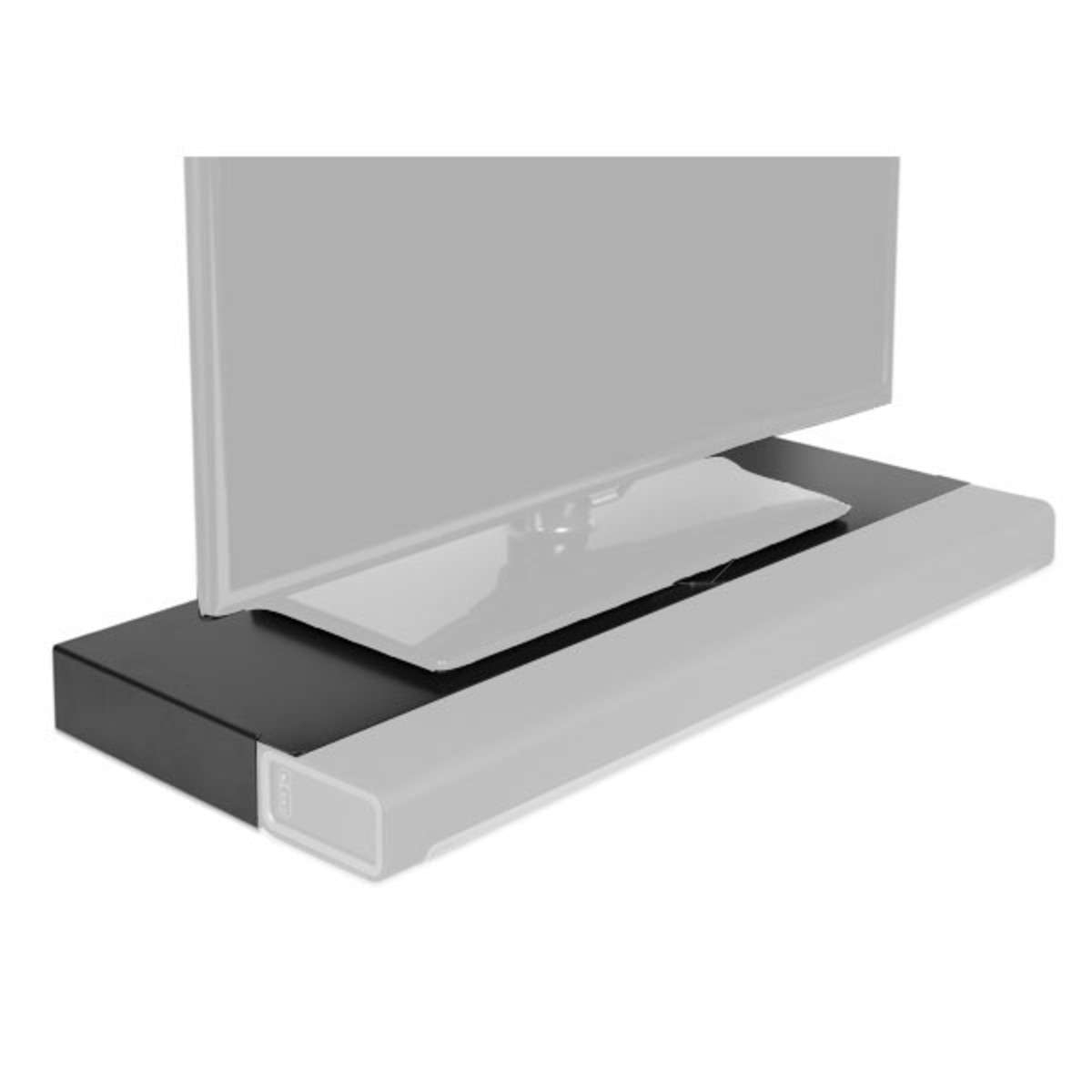 Flexson Tv Stand For Sonos Playbar, Black At Gear4Music Regarding Sonos Tv Stands (View 9 of 15)