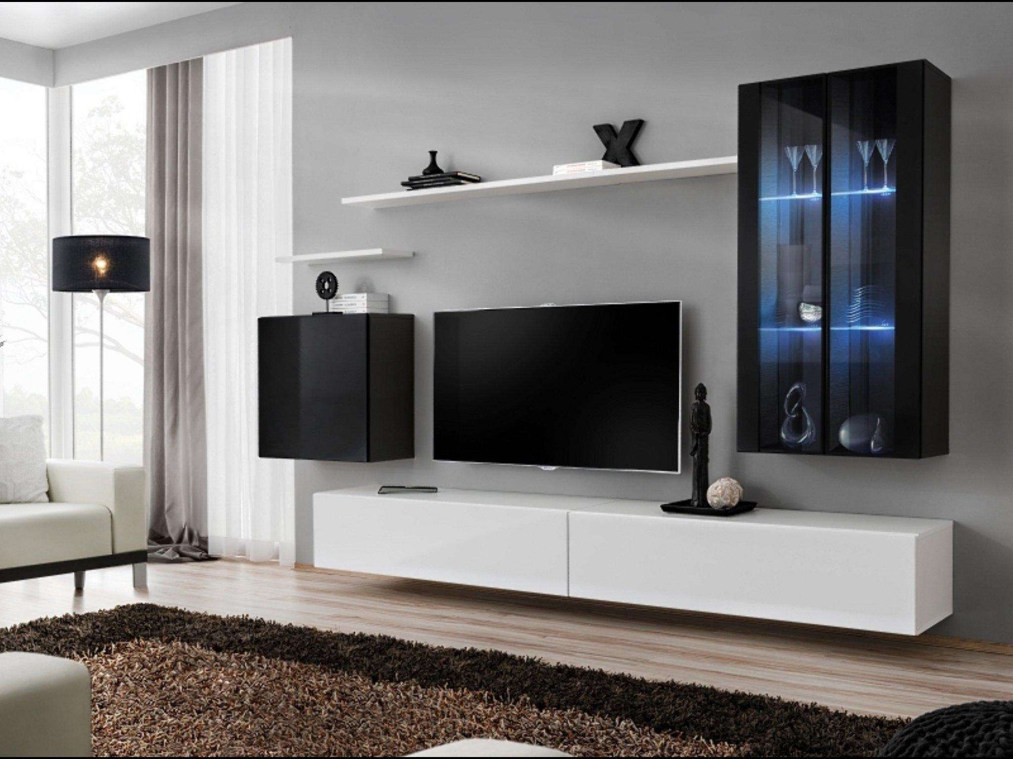 Floating Entertainment Center Ideas Best Buy With Black Cabinet Inside Floating Glass Tv Stands (View 3 of 15)
