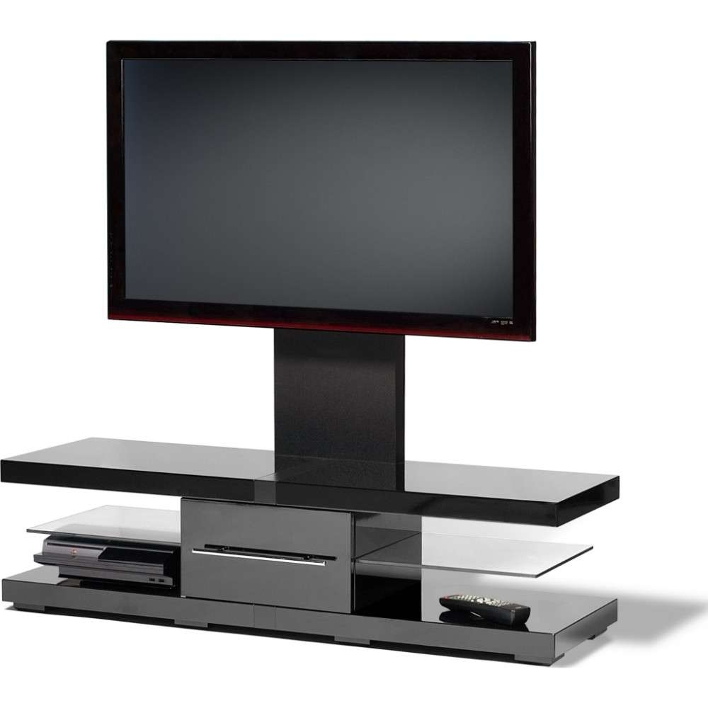 Floating Look Cantilever Shelves; Storage For 4 Pieces Of A/v For Ovid Tv Stands Black (View 7 of 20)