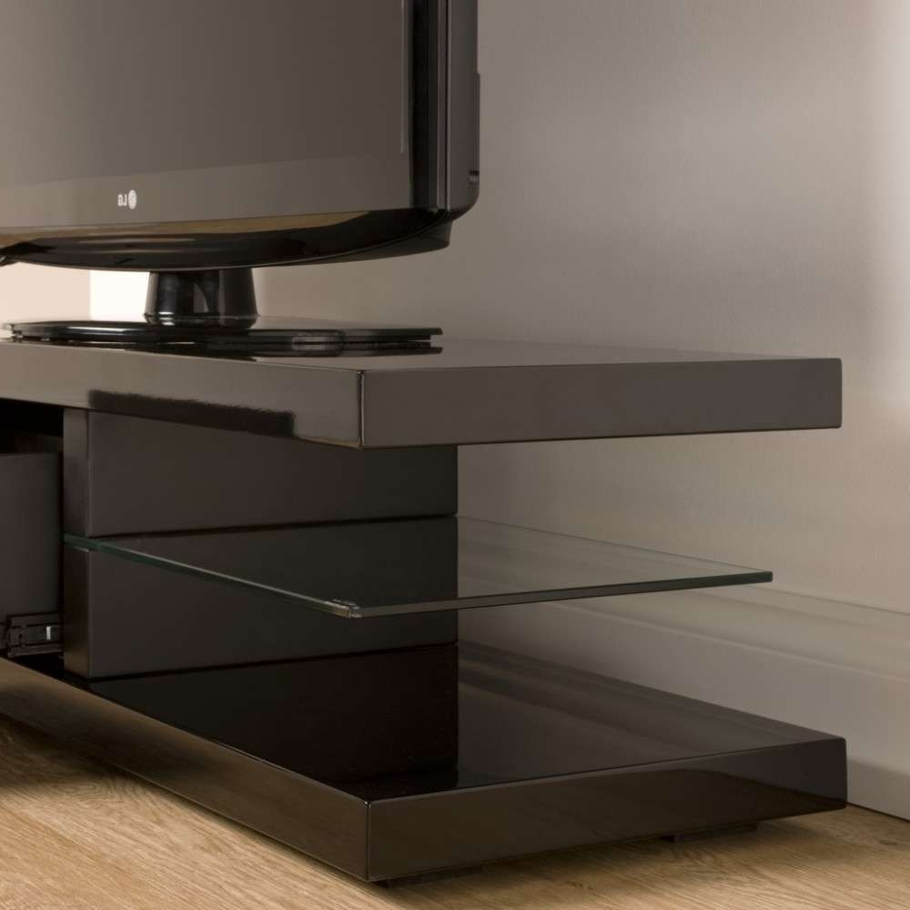 Floating Look Cantilever Shelves; Storage For 4 Pieces Of A/v Within Techlink Echo Ec130Tvb Tv Stands (View 14 of 20)