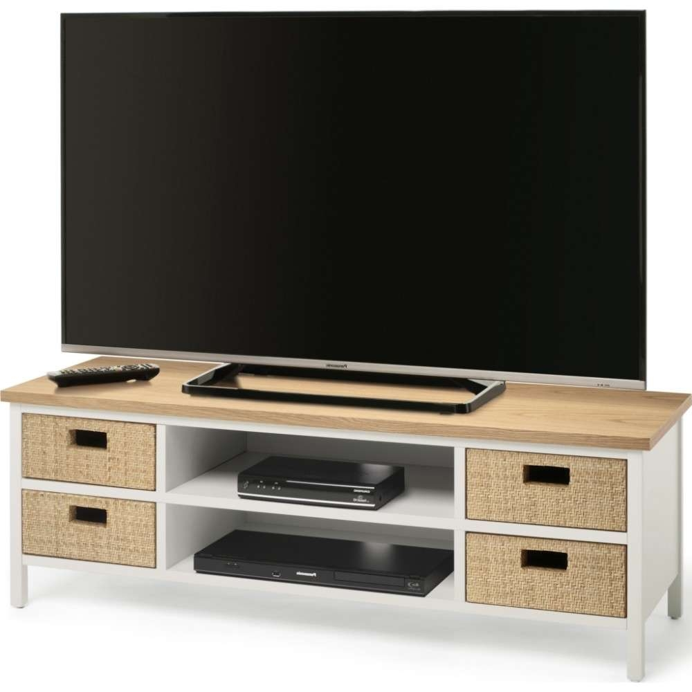 Four Wicker Front Drawers; Suitable For Displays Up To 60 With Techlink Tv Stands Sale (View 11 of 15)
