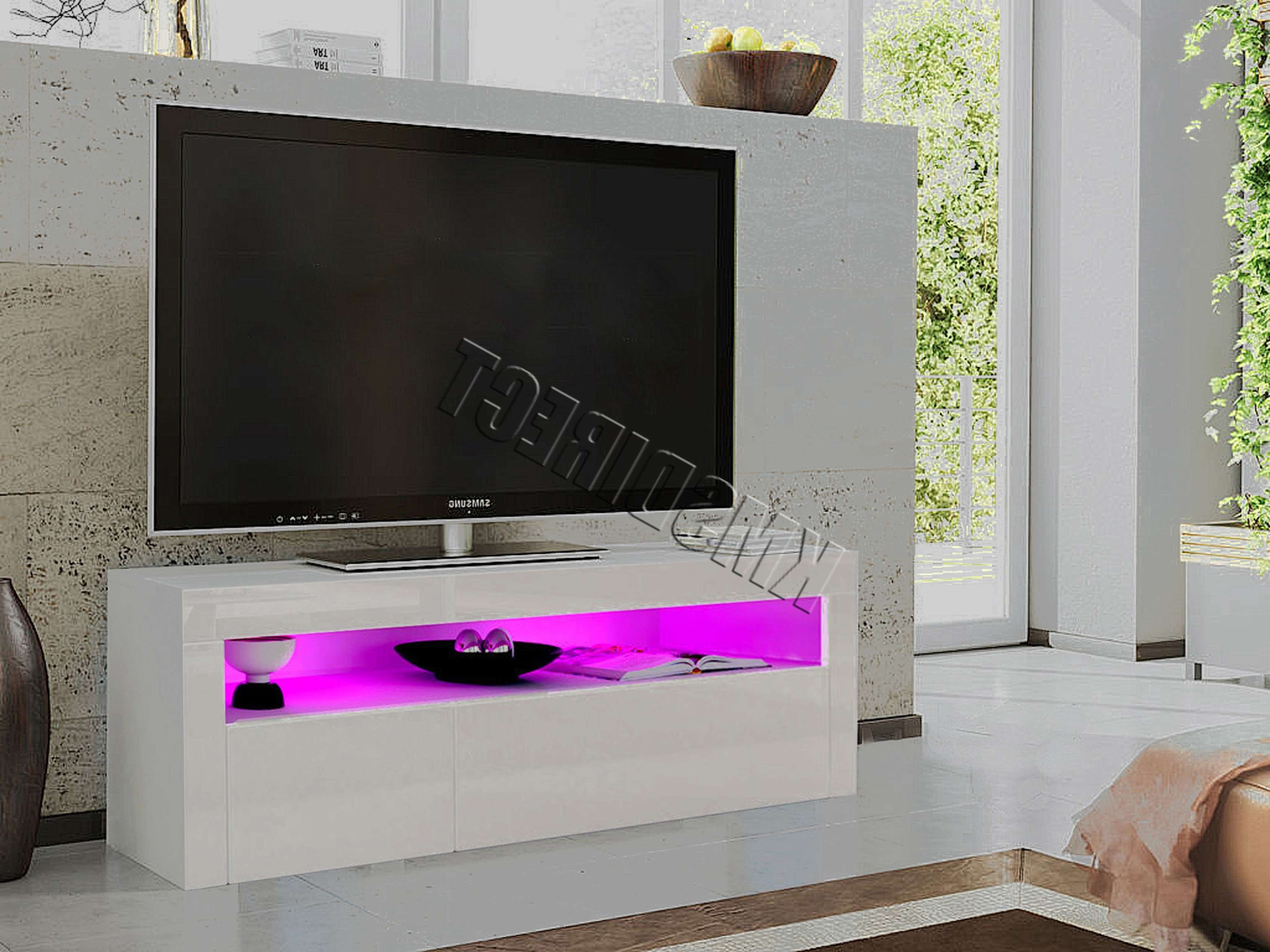 Foxhunter High Gloss Matt Tv Cabinet Unit Stand White Rgb Led Pertaining To Gloss Tv Stands (View 15 of 15)
