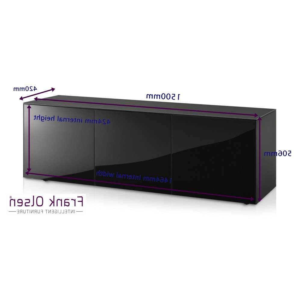 Frank Olsen Intel1500blk High Gloss Black 1500 Tv Unit Cabinet Regarding Black Gloss Tv Stands (View 18 of 20)