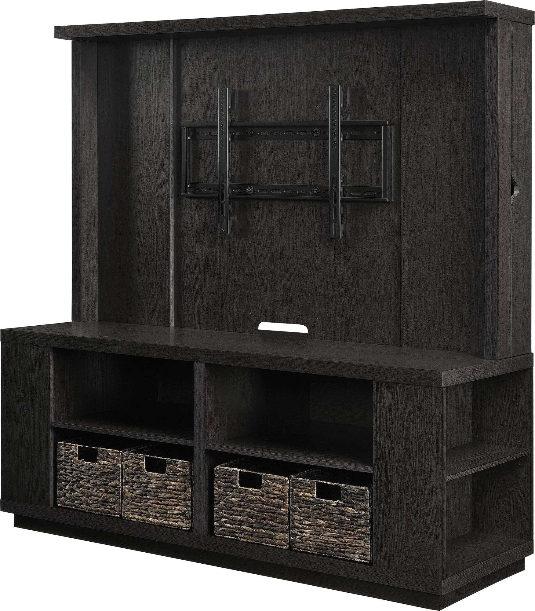 "Free Ship Furnishings | 60"" Flat Panel Tv Stand Dylan Hec With Inside Tv Stands With Baskets (View 5 of 15)"