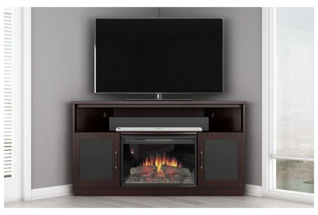 Free Standing Gas Fireplace Corner Tv Stand Beautiful Modern In Freestanding Tv Stands (View 6 of 15)