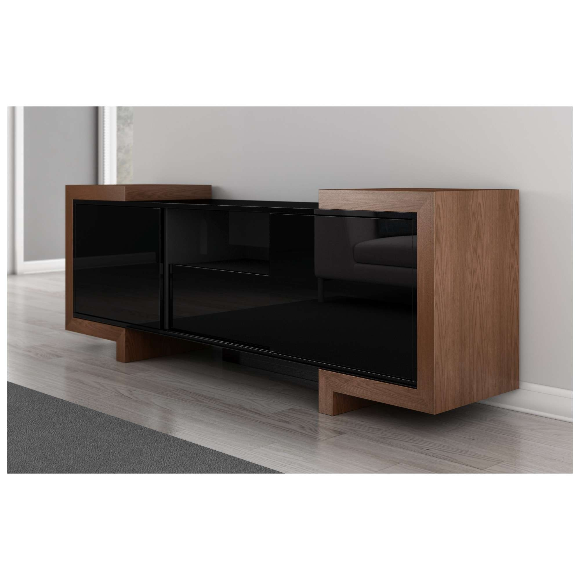 "Furnitech Ft75fa 75"" Tv Stand Contemporary Media Cabinet In High Inside Contemporary Oak Tv Stands (View 11 of 15)"