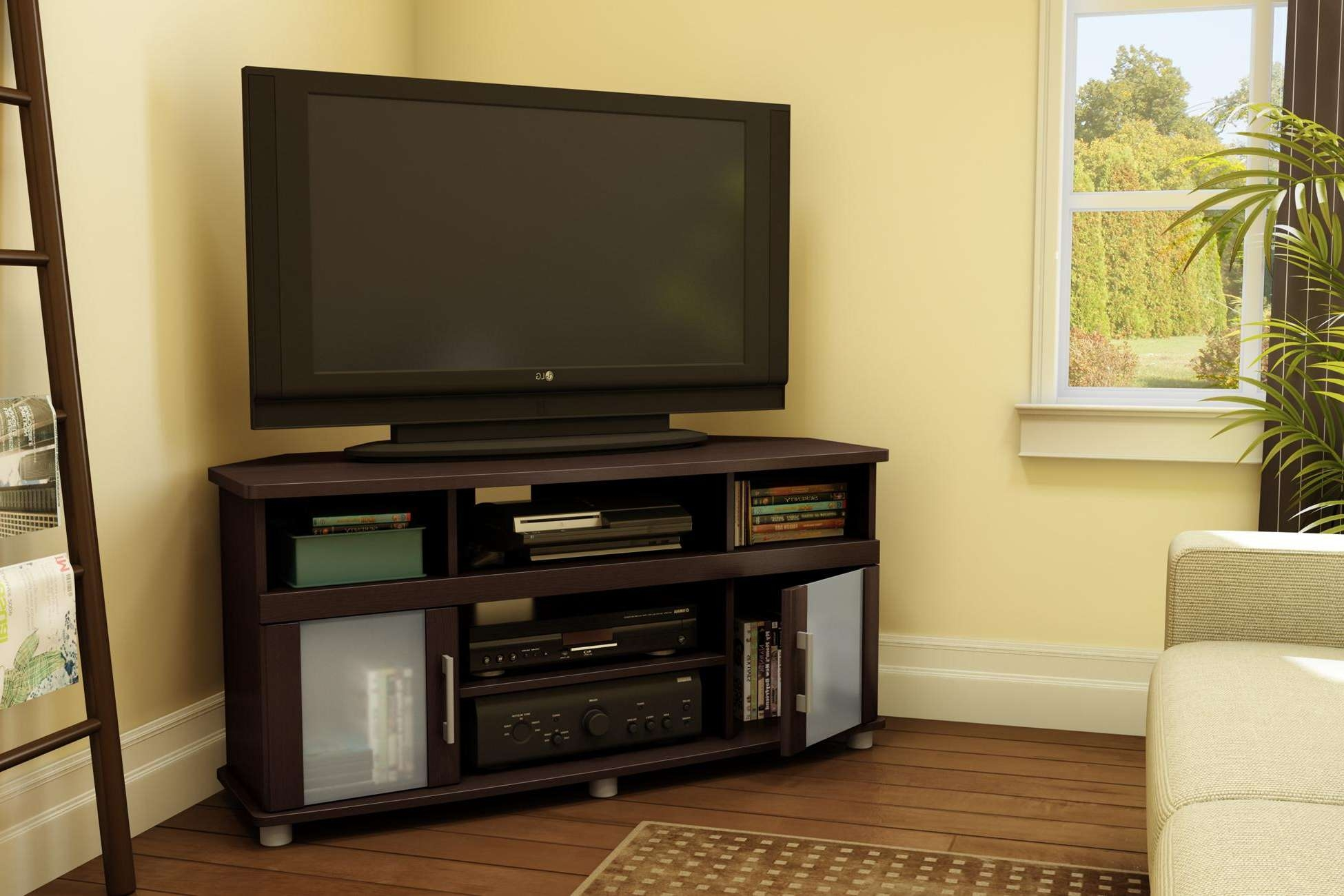 Furniture Accessories : Corner Tv Stand Ideas Triangular Shaped Inside Modern Corner Tv Stands (View 9 of 20)