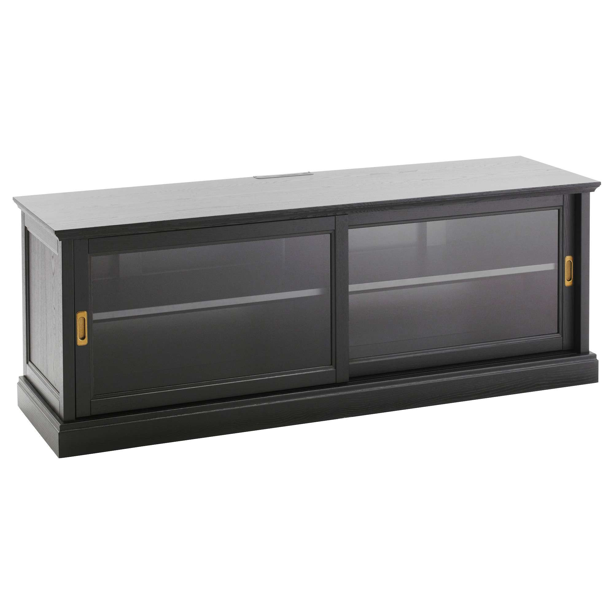 Furniture Accessories : Diy Ikea Tvs Stands Ideas Small Black In Glass Front Tv Stands (View 11 of 20)