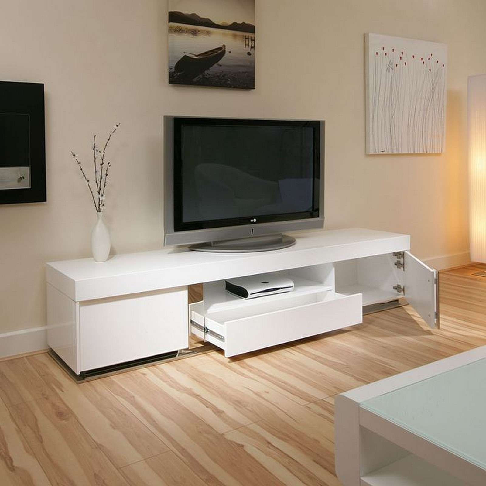 Featured Photo of Large White Tv Stands