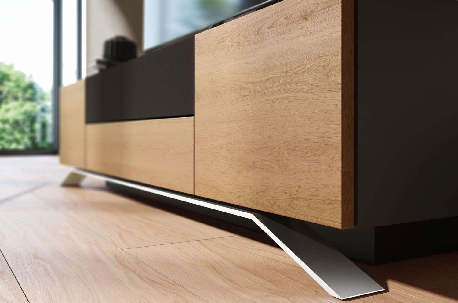Furniture Accessories : Long Modern Wood Media Console Table Throughout Low Profile Contemporary Tv Stands (View 4 of 15)