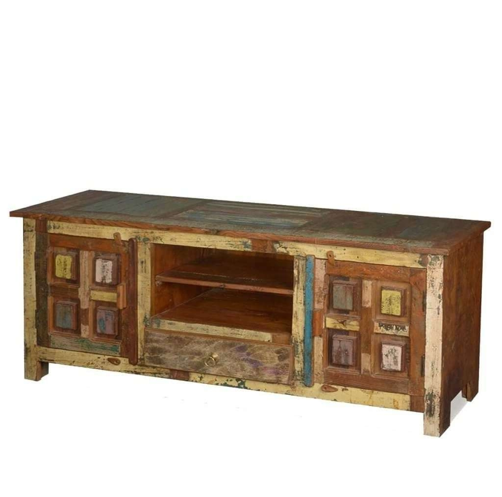 Furniture: Appalachian Rustic Wood Tv Stand Featuring Color Inside Cheap Rustic Tv Stands (View 5 of 15)
