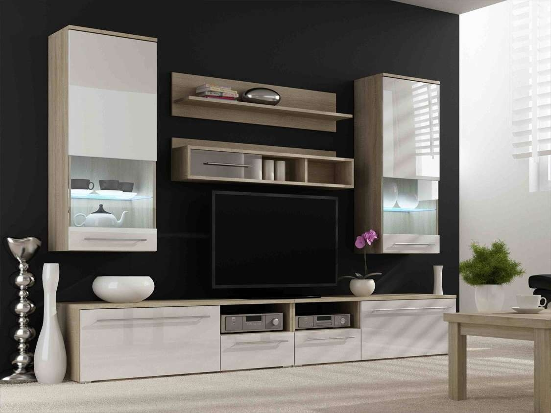 Furniture: Cream Ikea Modern Tv Stands With Led Tv Under Two Glass Throughout Led Tv Stands (View 11 of 20)