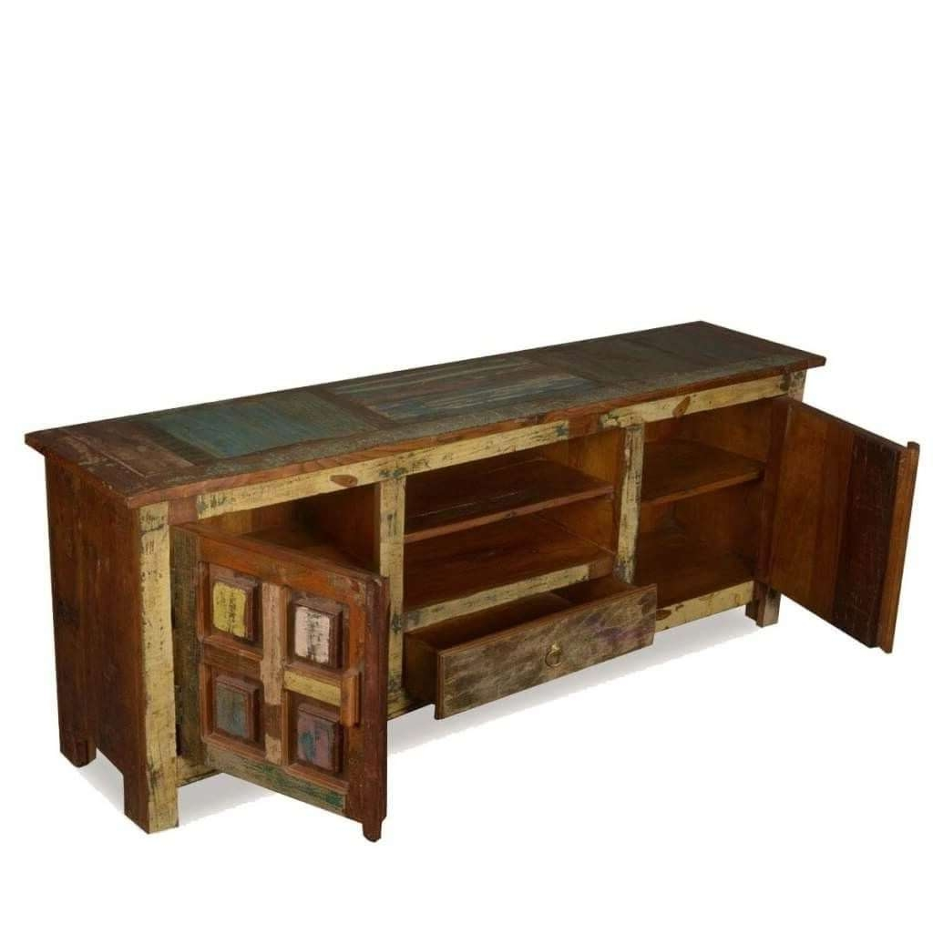 Furniture: Gorgeous Short Cheap Rustic Tv Stand Featuring Double Inside Cheap Rustic Tv Stands (View 7 of 15)
