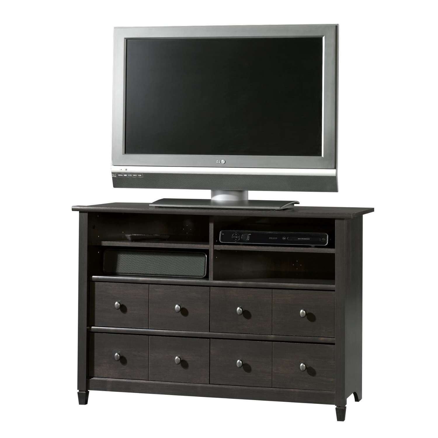 Furniture: Guide To Black Tv Stand And Cool Black Tv Stand With Throughout Black Tv Stands With Drawers (View 5 of 15)