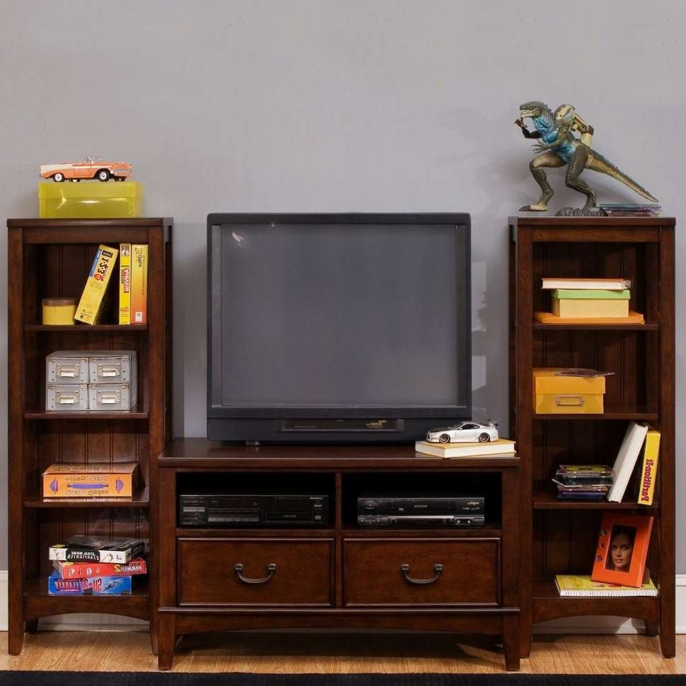Furniture Home: Tv Stand Bookcase Combo Stands With Glass Doors Intended For Tv Stands Bookshelf Combo (View 5 of 15)