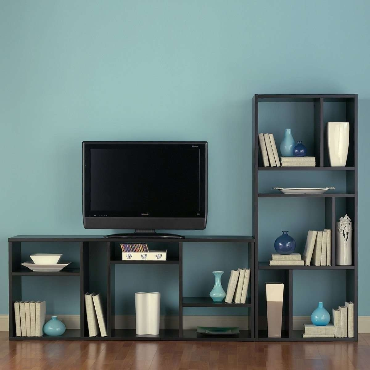 Furniture Home: Tv Stand Bookcase Combo Stands With Glass Doors With Tv Stands Bookshelf Combo (View 3 of 15)