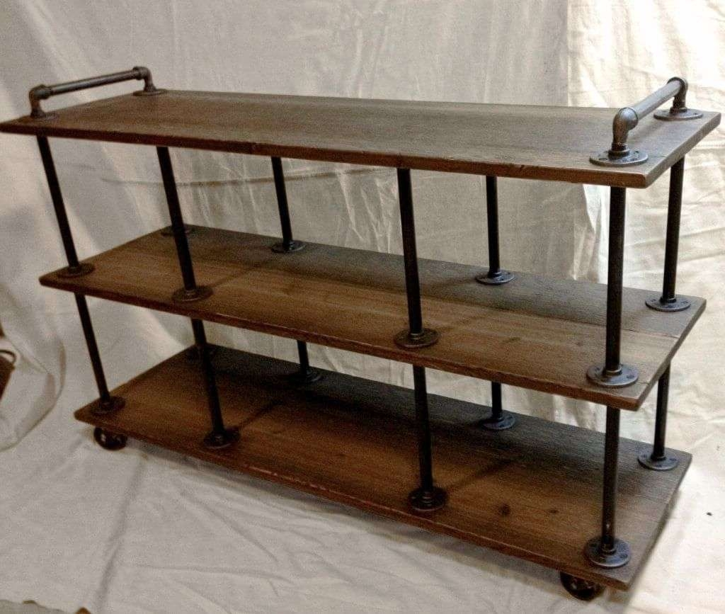 Furniture: Industrial Style Diy Rustic Tv Stands Featuring Black Inside Industrial Corner Tv Stands (View 9 of 15)