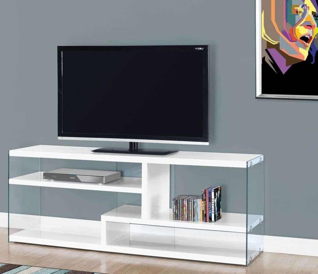 Furniture: Modest Two Toned Wooden Modern Tv Stand With Small Open In Open Shelf Tv Stands (View 4 of 15)