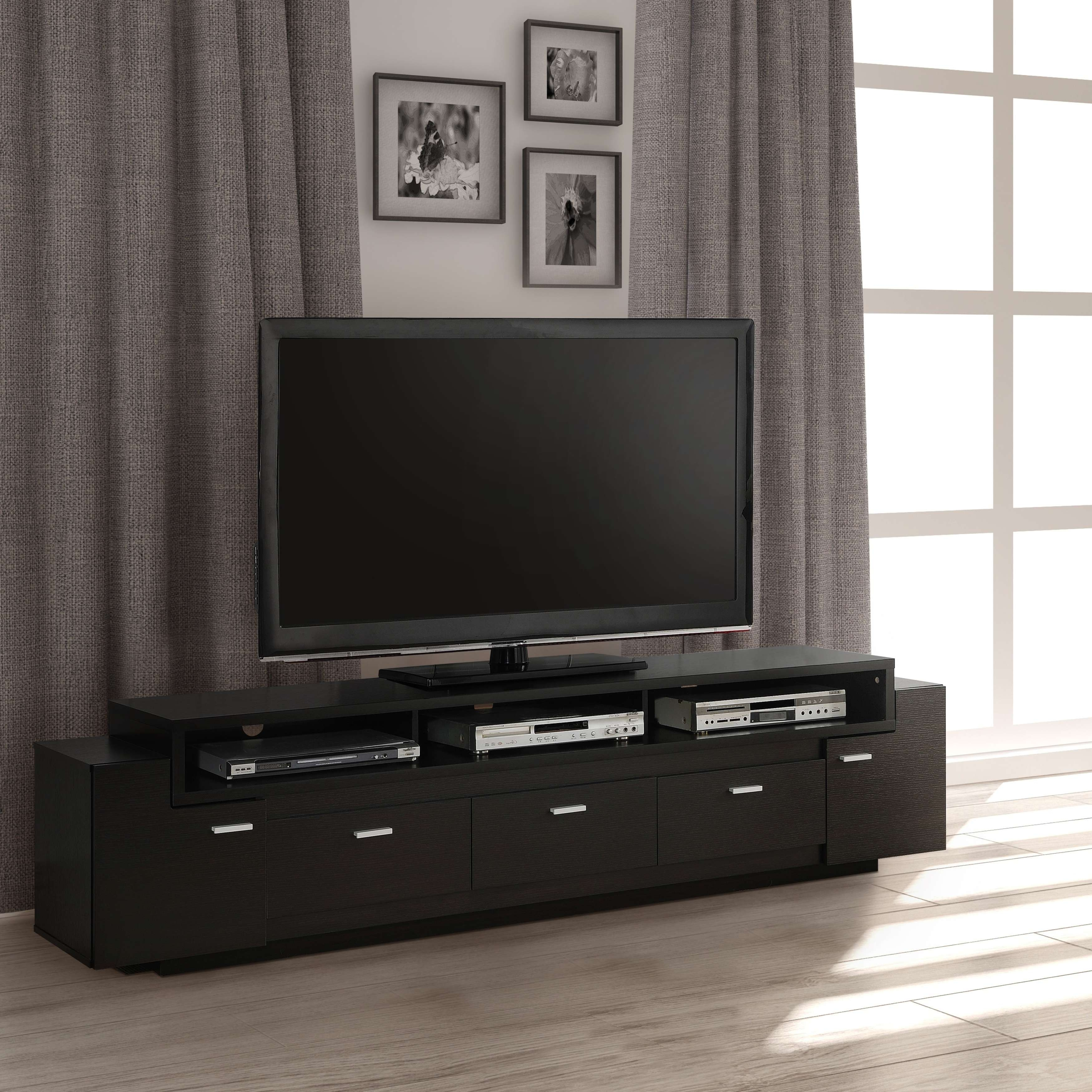 Furniture Of America 84 Inch Peyton Modern Tiered Tv Stand – Free Inside 84 Inch Tv Stands (View 4 of 15)