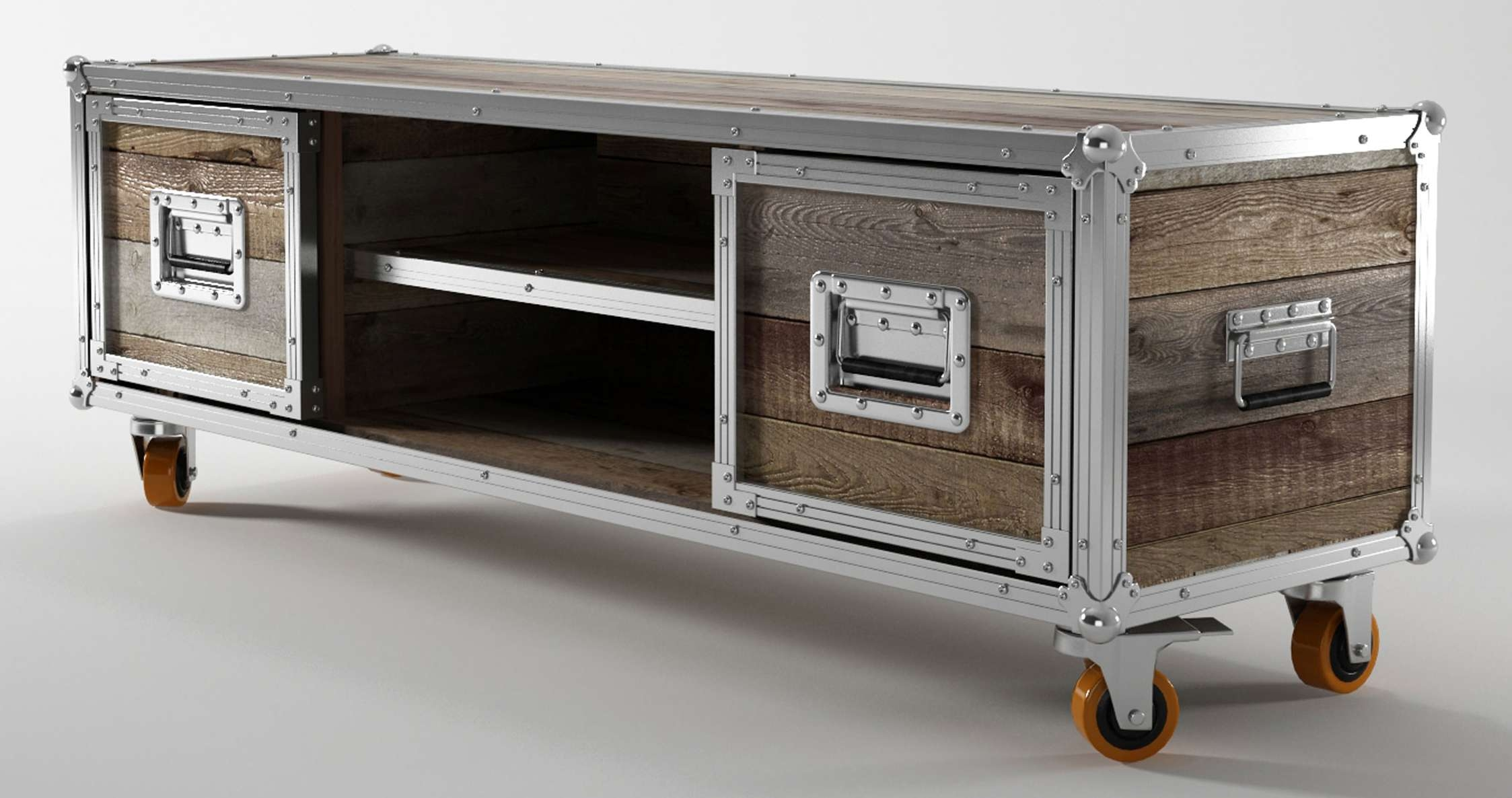Furniture: Rustic Reclaimed Wood Tv Stand With Drawers And Shelves With Regard To Cheap Rustic Tv Stands (View 8 of 15)