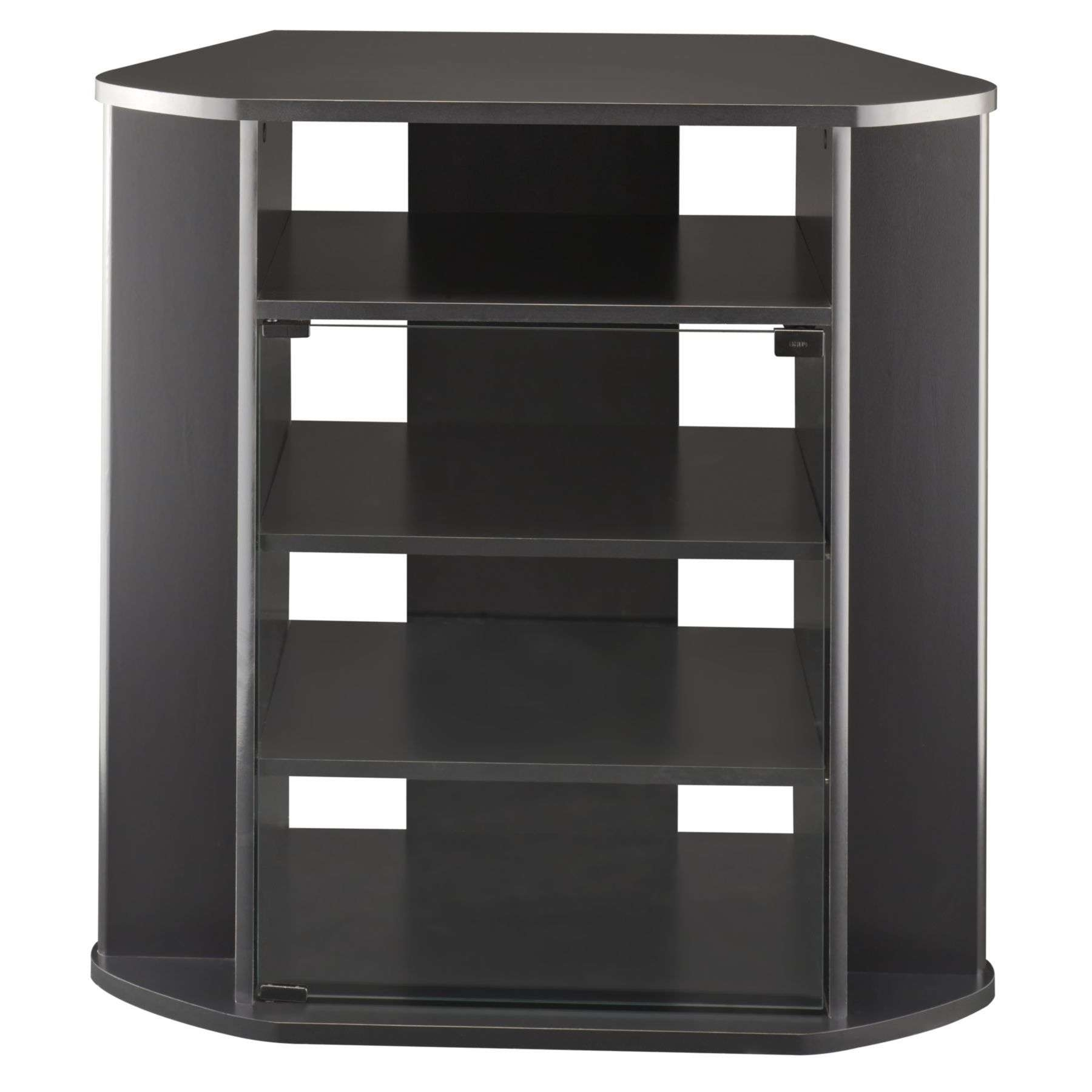 Furniture Tall Black Corner Media Cabinet With Shelf Spacious Tv In Tall  Black Tv Cabinets (