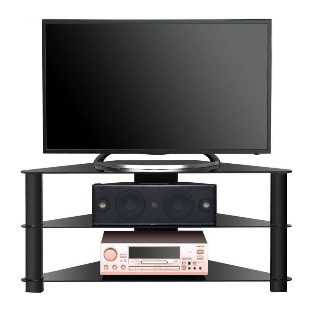 Furniture: Triangle Shaped Cheap Modern Tv Stand Featuring 2 Tier With Triangle Tv Stands (View 4 of 15)