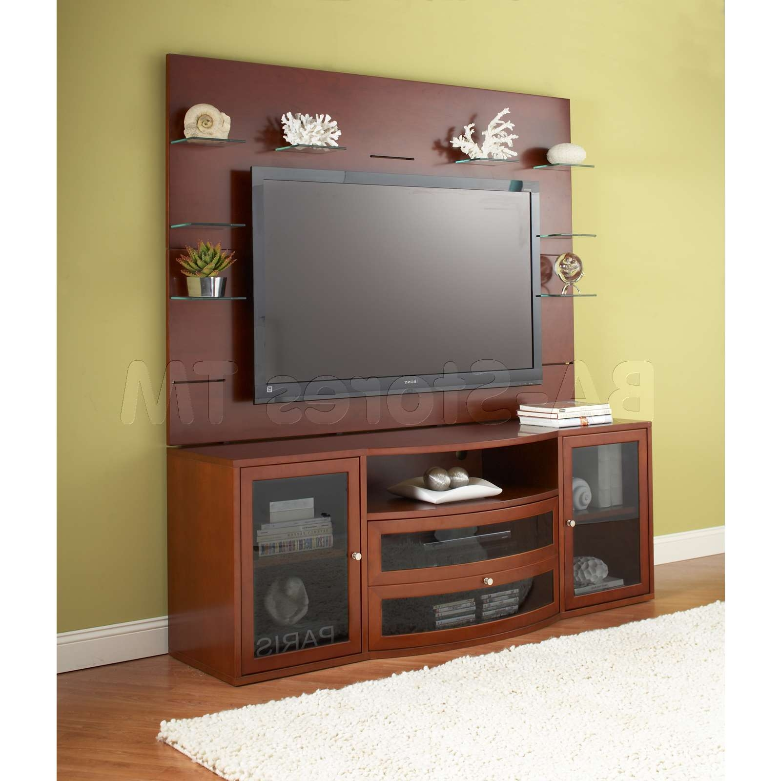 Furnitures 80321 2000 Series Tv Cabinet Unit W Back Panel Stand Pertaining To Tv Stands With Back Panel (View 5 of 15)