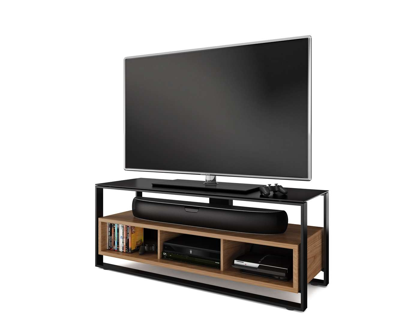 Furnitures Sonda Tv Stand Bdi Designer Stands And Cabinets For With Tv Stands With Back Panel (View 6 of 15)