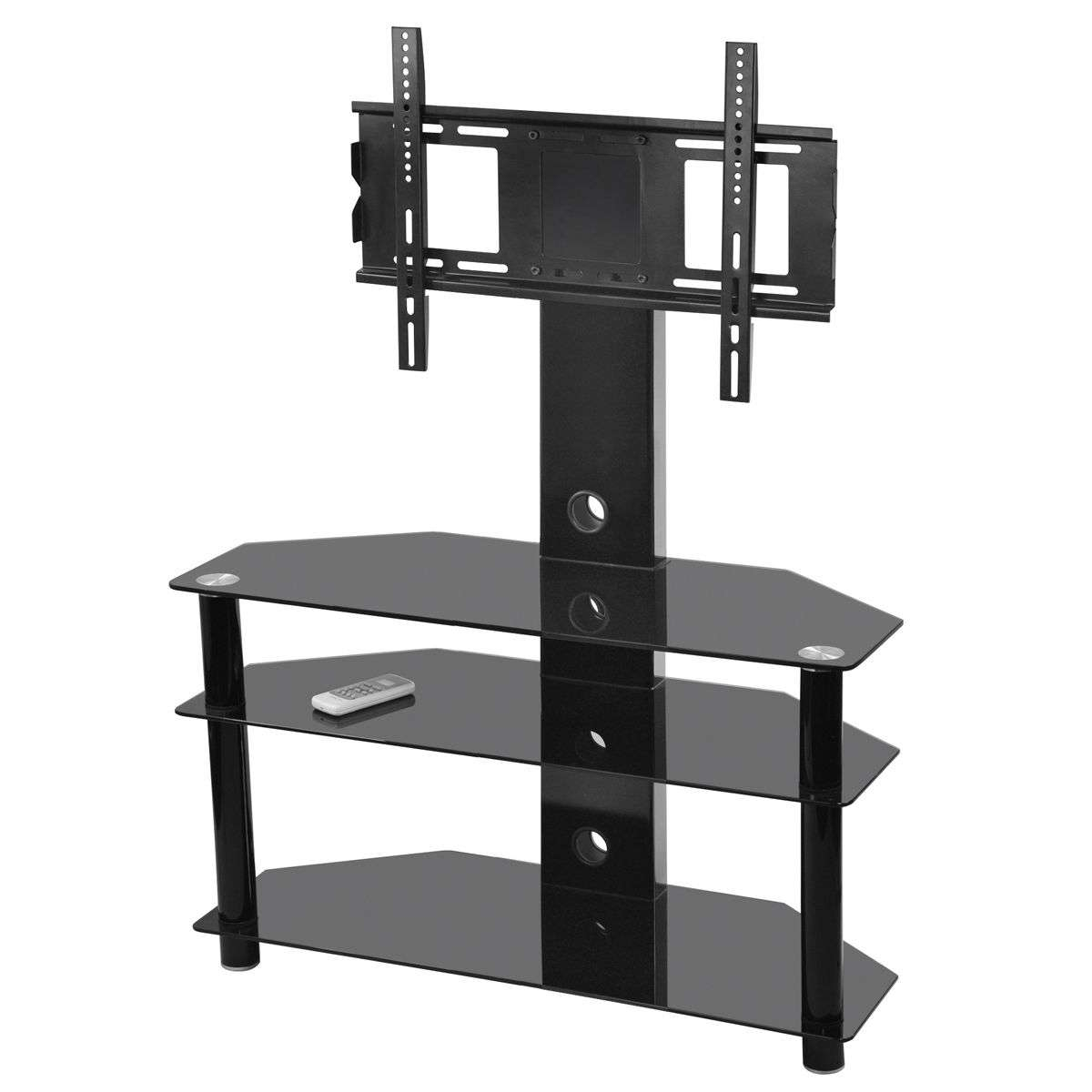 Glass Tv Stands | Ebay With Regard To Smoked Glass Tv Stands (View 7 of 15)