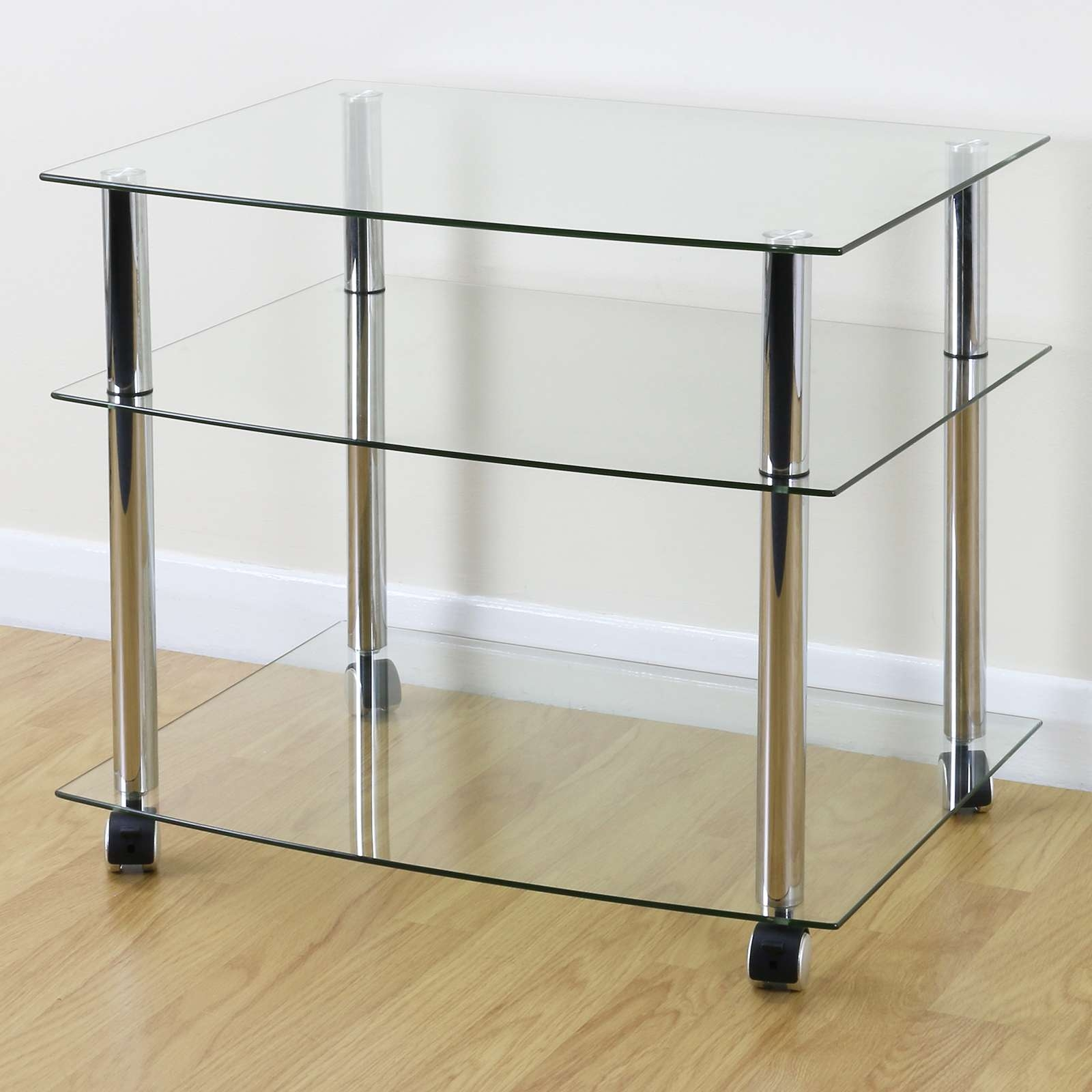 Glass Tv Stands | Ebay Within Smoked Glass Tv Stands (View 8 of 15)