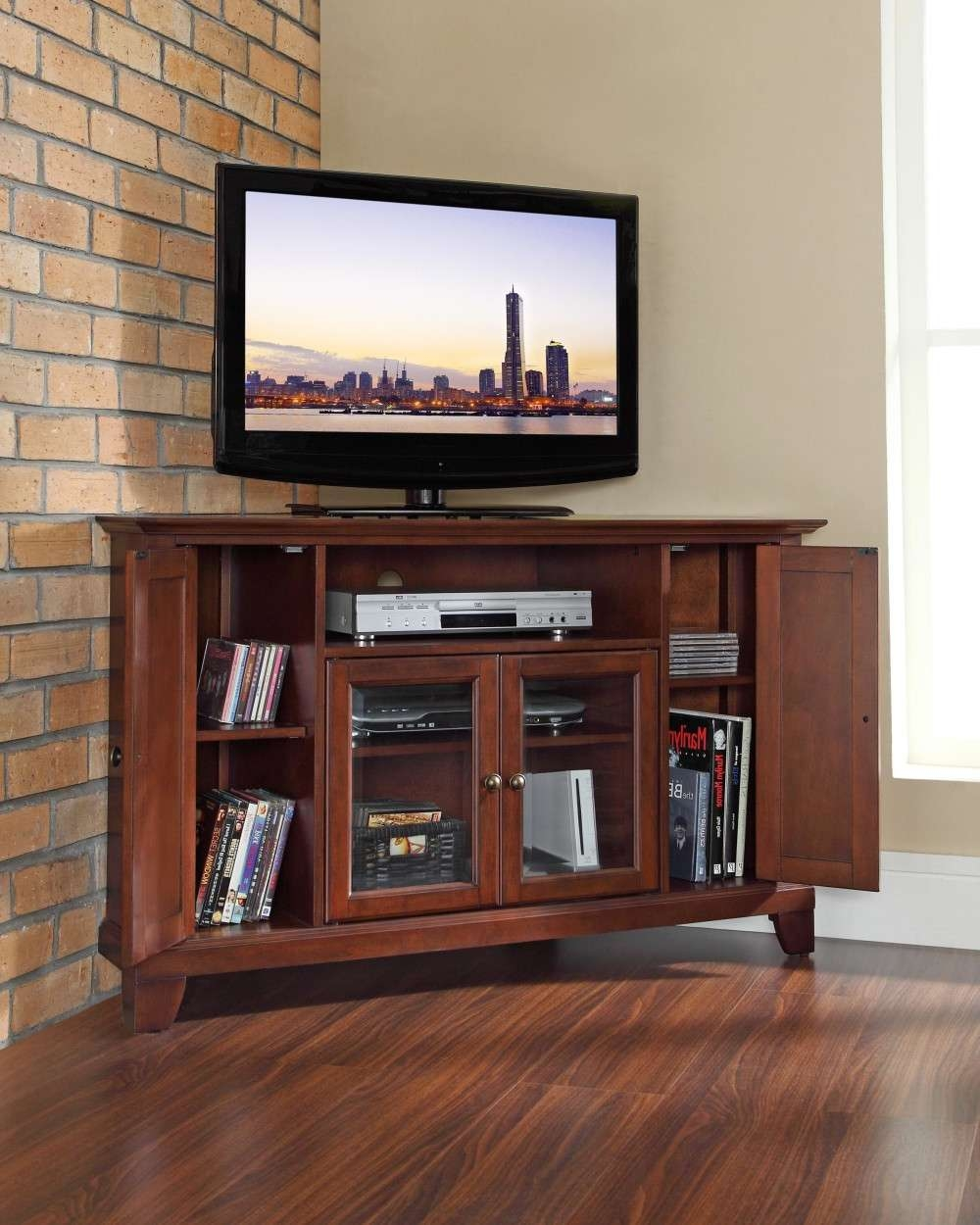 Good Corner Tv Stands For Flat Screens — The Clayton Design Within Cheap Corner Tv Stands For Flat Screen (View 14 of 20)