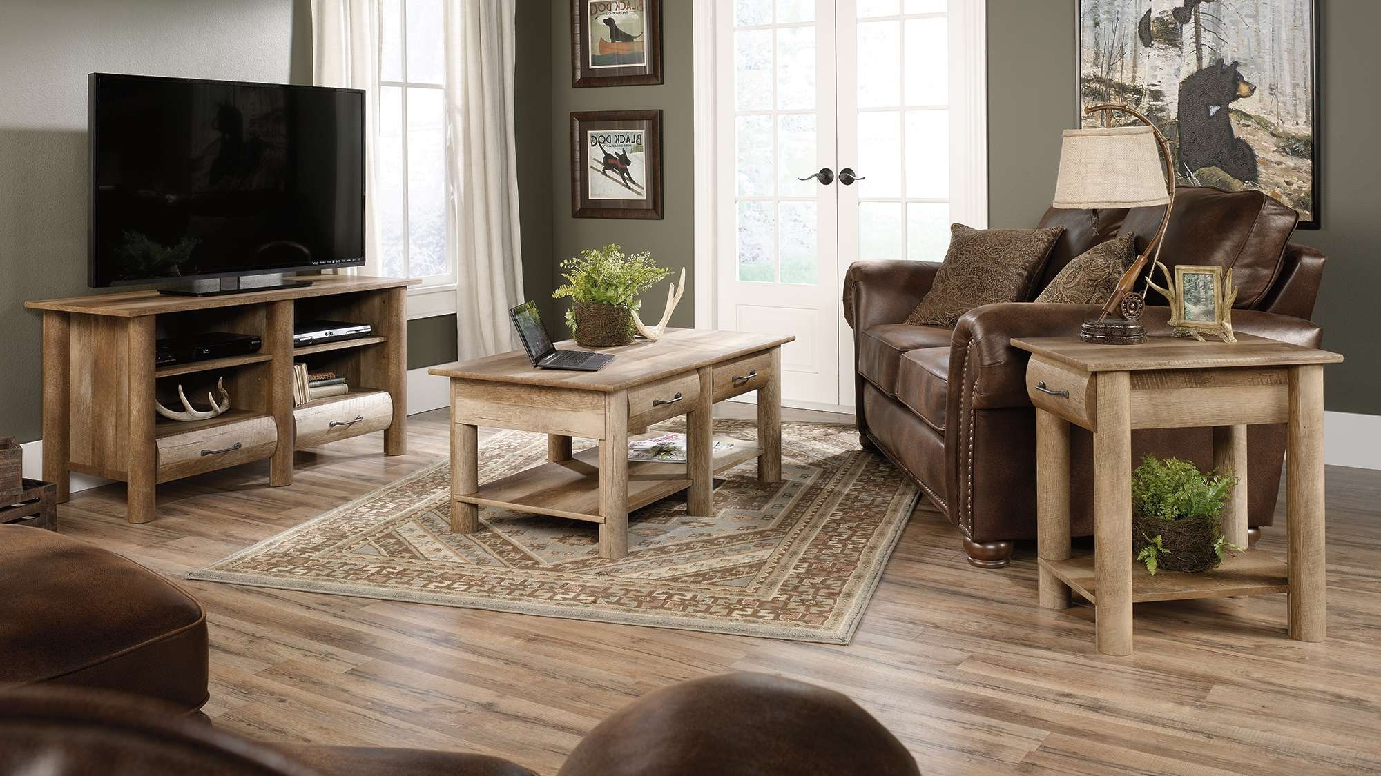 Good Looking Boone Mountain Furniture Collection Log Tv Stands Within Coffee Tables And Tv Stands (View 14 of 20)