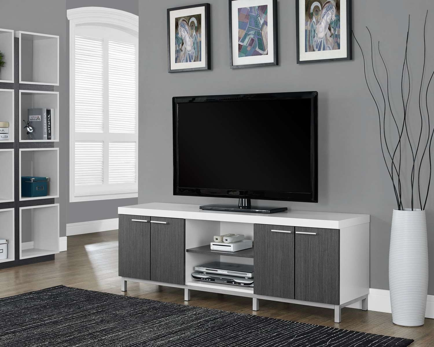Great White Tv Stands For Flat Screens 89 About Remodel Modern In White Tv Stands For Flat Screens (View 7 of 15)