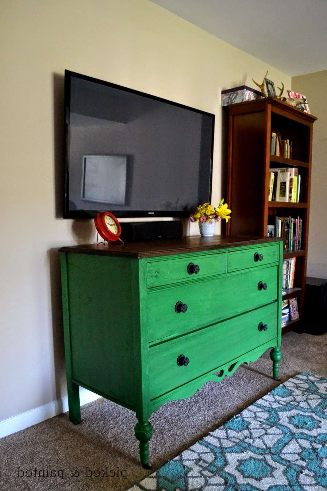Green Furniture – Helen Nichole Designs With Green Tv Stands (View 4 of 15)