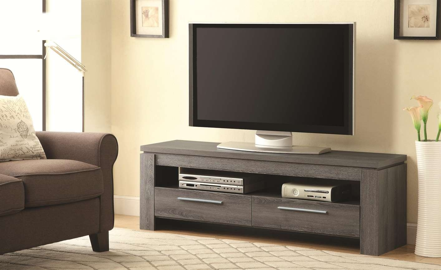 Grey Wood Tv Stand – Steal A Sofa Furniture Outlet Los Angeles Ca Within Wooden Tv Cabinets (View 7 of 20)