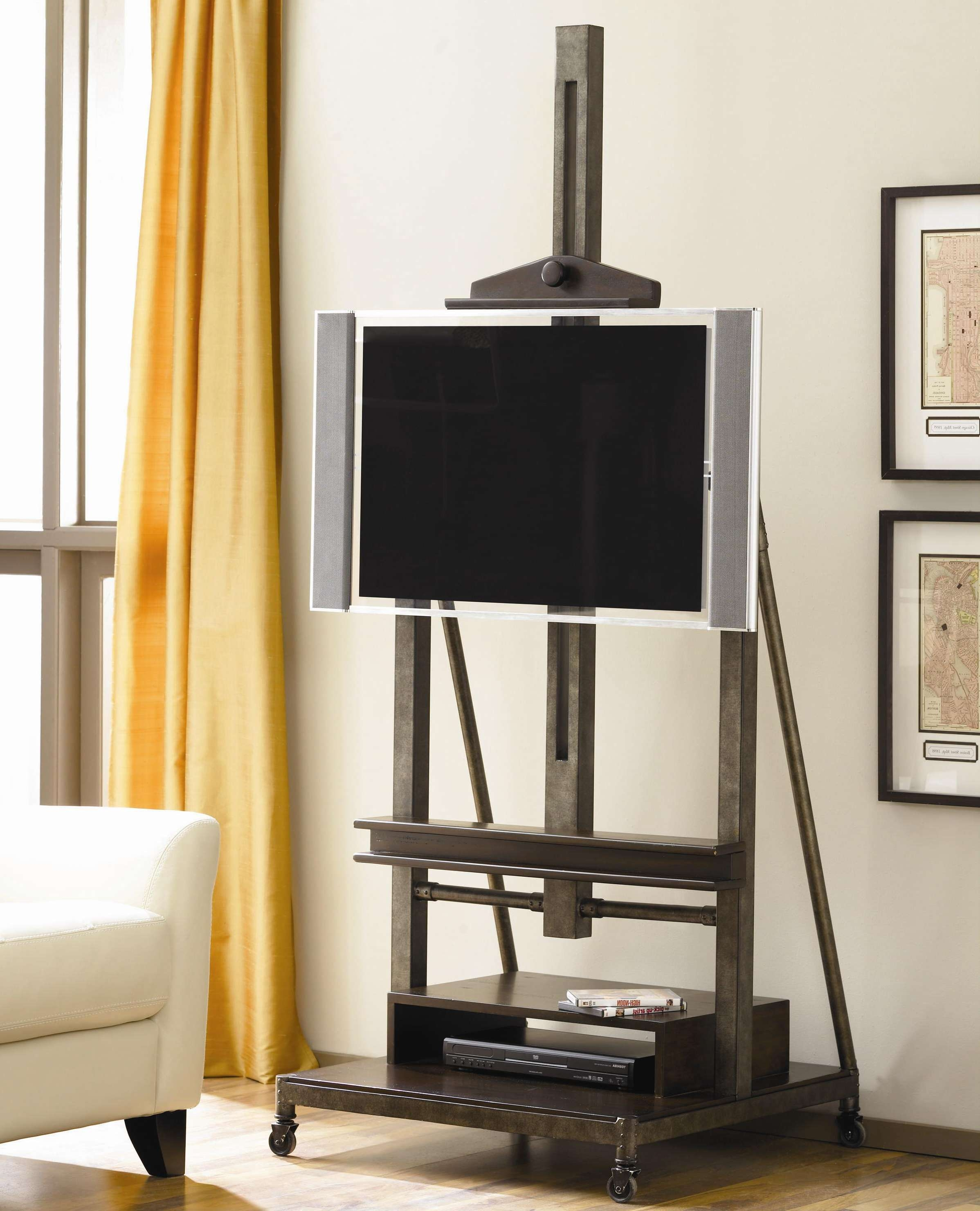 Hammary Structure Television Easel Cart – Ahfa – Tv Stands Dealer Regarding Easel Tv Stands For Flat Screens (View 3 of 15)
