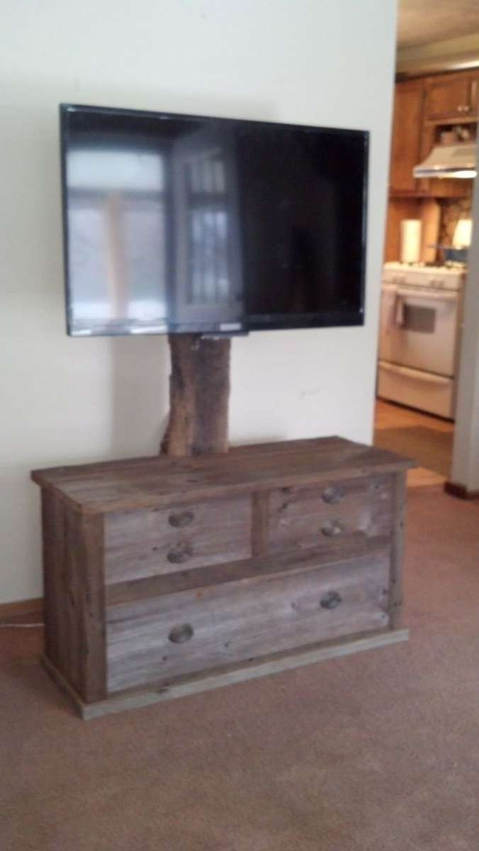Hand Crafted Barn Wood Tv Standrats Wood Creations Regarding Wood Tv Stands (View 6 of 15)
