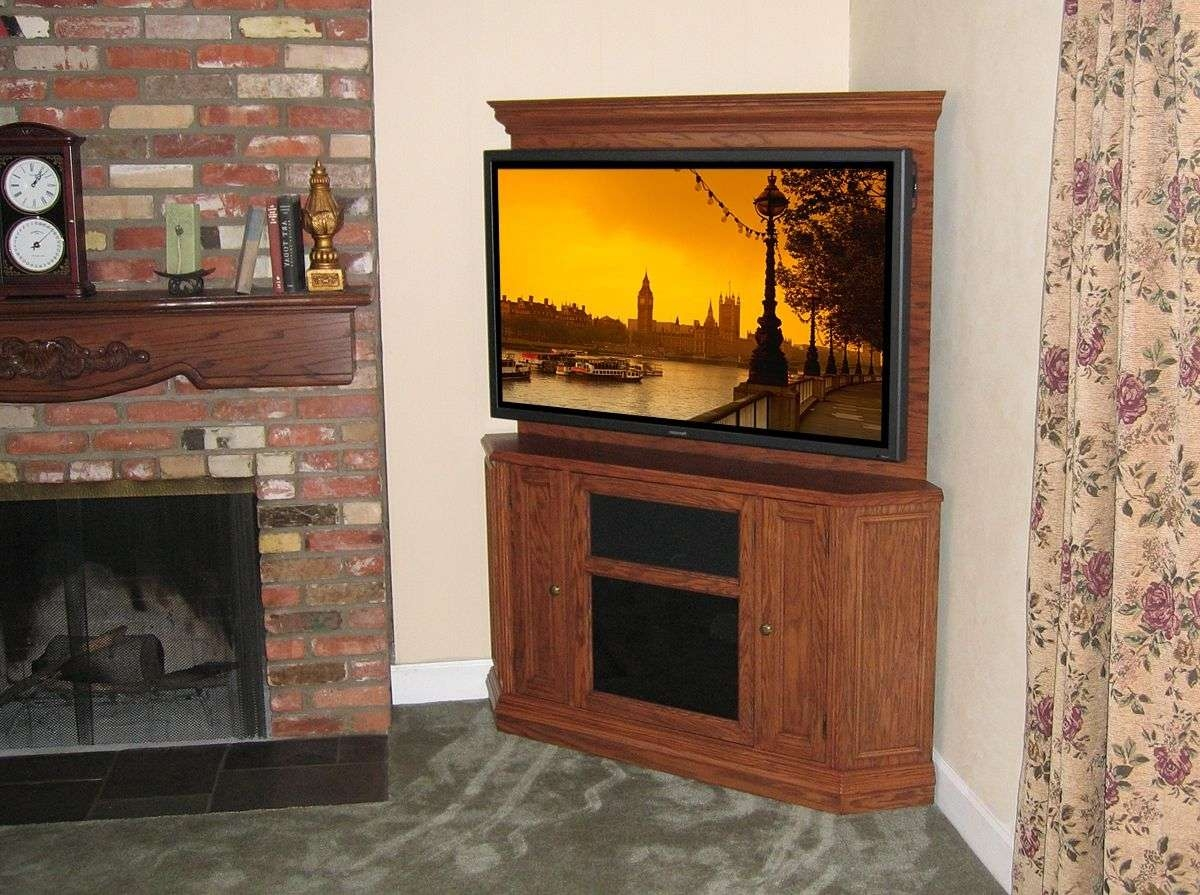 Hand Crafted Custom Corner Oak Tv Stand Entertainment Center Intended For Corner Oak Tv Stands For Flat Screen (View 9 of 15)