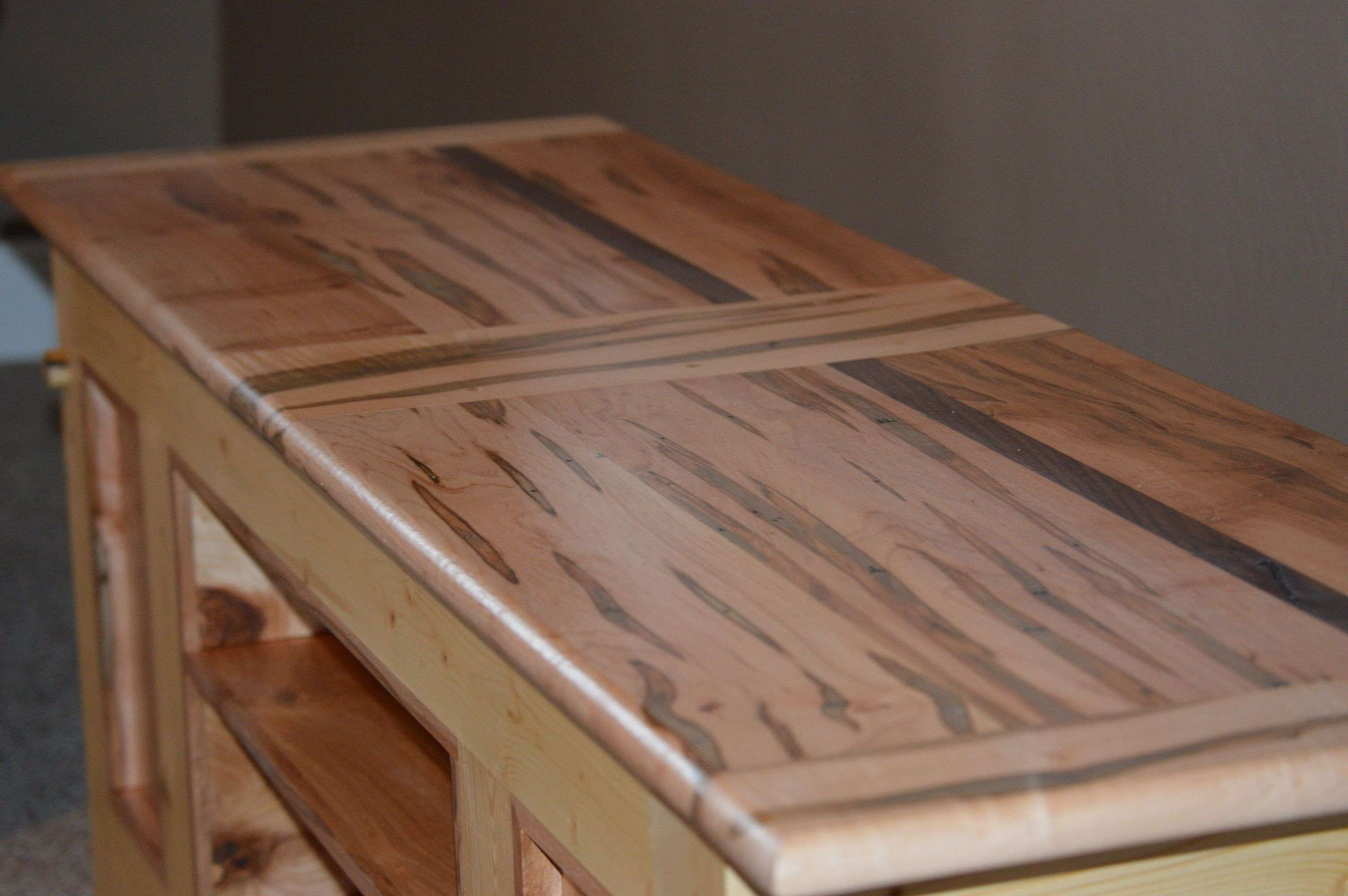 Hand Made Ambrosia / Wormy Maple And Pine Tv Stand / Coffee Table With Maple Wood Tv Stands (View 5 of 15)